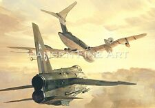 English Electric Lightning Aviation Painting Art Print 5 Squadron Michael Turner