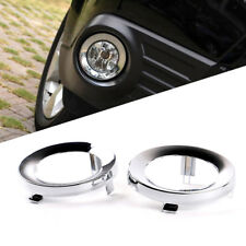 Pair Front Chrome Fog Light Lamp Cover Trim Ring For Subaru Forester 2009-2013
