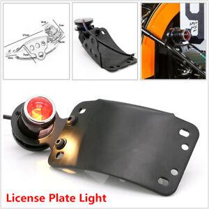Red Indicator Motorcycle Bike Cafe Racer Brake License Plate Retro Tail Light