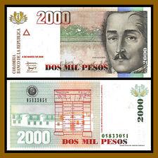 Colombia 2000 ( 2,000 ) Pesos, 2005 P-457 Santander  Unc