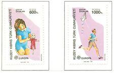 EUROPA CEPT - NORTHERN CYPRUS 1989 Children's Games set A