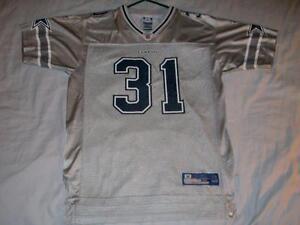 Roy Williams 31 Dallas Cowboys Silver NFL Reebok Jersey Boys X-Large 18-20 used