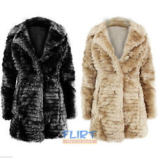 Unbranded Faux Fur Button Coats & Jackets for Women