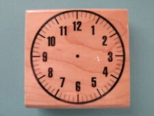 Clock Face w/o Hands Rubber Stamp