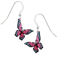 Sienna Sky Pink & Blue Fantasy Butterfly Pierced Earrings ~Made in Colorado USA~