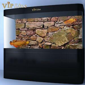 Water Stone Aquarium Background Poster PVC Fish Tank Decorations Landscape