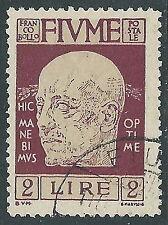 1920 FIUME USATO GOVERNO D'ANNUNZIO 2 LIRE - P57-3