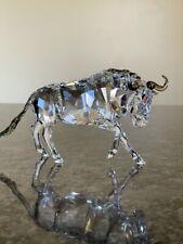 "Swarovski Crystal Gnu Figurine, 3.75"" xn7"" Box & Certificate"