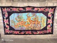 CARPET BESSARABIA USSR,Moldova  The kilim is Moldavian 11.15 x 6.23 ft