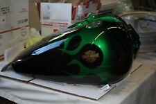 1999 FXR3 green black flamed gas tank FXR FXRP FXLR FXRD FXRS FXRC WOW! EPS22555