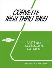 Corvette Parts Book 1963 1964 1965 1966 1967 1968 1969 Master Catalog Illustratd