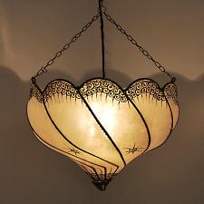 Lámpara Oriental Henna techo MARRUECOS Lámpara Colgante ganguly Natural