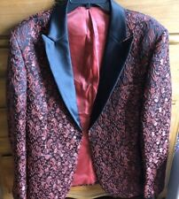Red And Black Design Suit Jacket