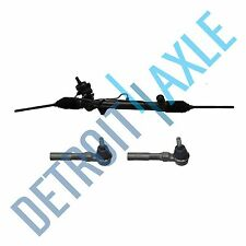 Complete Power Steering Rack and Pinion Assembly + 2 New Outer Tie Rods - AWD