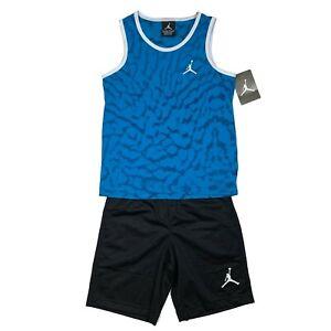 Nike Jordan Boy's 7 Classic Basketball Shorts and Shirt 2 Piece Shorts Set