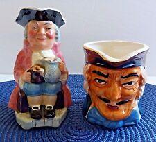 Vintage Toby Mugs Kelsboro Ware England Full Body & Face Only Mug Japan Lot of 2