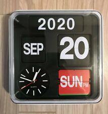 Modern Retro Auto Calendar QuartzWall Desk Flip  Clock