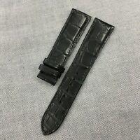 21mm/18mm Genuine Black Alligator Crocodile Leather Skin Watch Strap Band #WT23