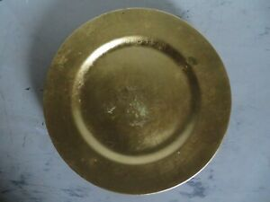 Gold Metalic Serving Decorative Plate