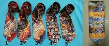 3 PC GRAFFITIE SILK NECK TIE CUFF LINKS HANKY SET GRAFFITI THEMED GIFT BOXED NEW