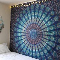 Indian Mandala Bedspread Hippie Tapestry Twin Wall Hanging Throw Rug Decor