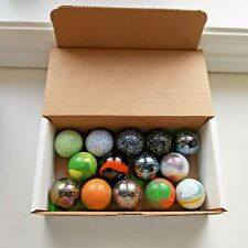 Box of 14 Large  Marbles - Various Colors
