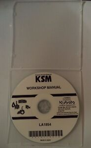 FACTORY ORIGINAL KUBOTA TRACTOR LOADER ATTACHMENT WORKSHOP CD/DVD  LA1854