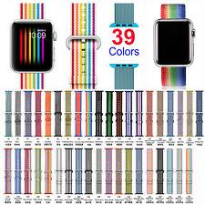39+# Woven Nylon Wrist Band Strap Bracelet Fo AppIe Watch 38 42mm Series 1-3 Lot