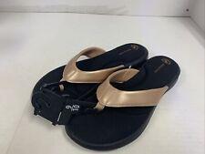 NWT - Athletic Works Womens Metallic Memory Foam Flip Flop Thong Sandal US 9-10