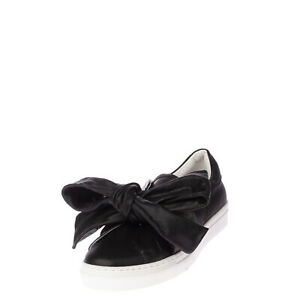 RRP €130 OVYE' By CRISTINA LUCCHI Leather Sneakers EU 37 UK 4 US 7 Two Tone Bow
