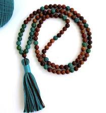 8mm sandalwood Malachite Necklace Colorful Lucky mala Gemstone Bless yoga energy