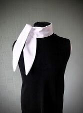 White cotton rockabilly scarf white retro vintage style scarf 40's scarf tie up