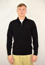 Men's OSCAR DE LA RENTA Black Acrylic Pullover Sweater Size Medium