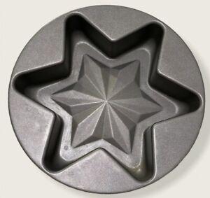 Vintage Original Kaiser La Forme Christmas Star Non Stick Cake Pan •