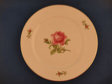 Fuerstenberg Hand Painted Gilded Dessert Plate Rose Pattern Germany