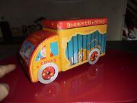Camion de Cirque Cage du Tigre Tirelire Boite à Bonbon Gateau en Tôle Bonapetti