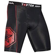 MMA Compression Shorts TOP TEN - Vale Tudo Shorts. Grappling. schwarz/rot.