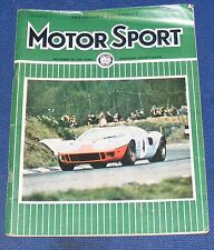 MOTOR SPORT MAY 1968 - B.O.A.C.500 RACE/NEW ROVER 3000-5