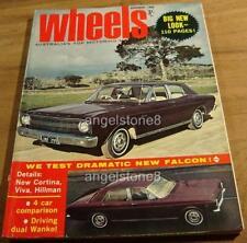 1966.WHEELS.New XR Ford FALCON.Datsun BLUEBIRD SS.Lancia FULVIA.Cortina.Corona