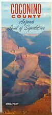 1960's Coconino County Arizona vintage promotional brochure & map Flagstaff b