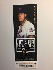 NEW YORK METS VS WASHINGTON NATIONALS JULY 13, 2018 TICKET STUB