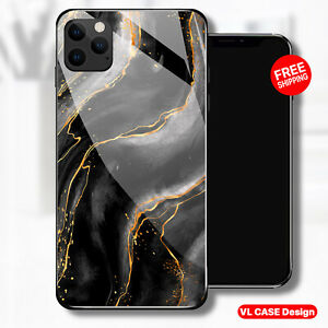 iphone 13 pro case black Marble Tempered Glass Phone Case Samsung S21 Ultra Gift