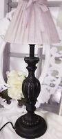 Clayre&Eef Tischlampe Stehlampe Lampe Shabby Vintage Landhaus Braun