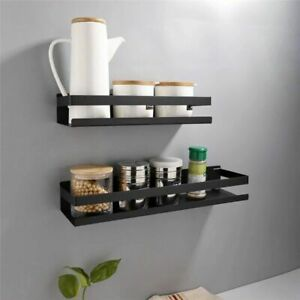 Household Punch Free Wall Shelves Seasoning Spices And Toiletries Storage Holder