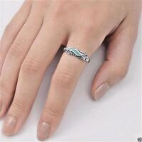 USA Seller Turquoise Band Ring Sterling Silver 925 Best Price Jewelry Selectable
