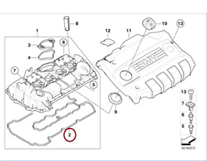 Genuine BMW Rocker/Cam Cover Gasket 11127555738 UK NEW