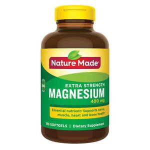 Nature Made High Potency Magnesium 400 mg 180 Liquid Softgels Exp 12/2021