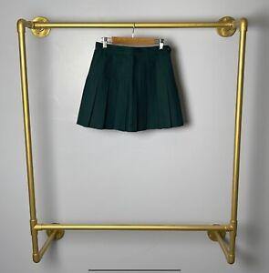 New American Apparel Tennis Skirt Pleated Forest Cheerleader Green Women's Short