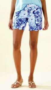 """Lilly Pulitzer NWT 7"""" Darci Knit Shorts Catch and Keep $88"""