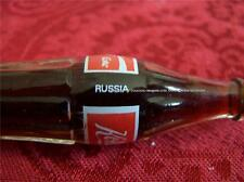 UNIQUE RUSSIAN Mini COKE 3 inch COCA COLA Full Glass Bottle Metal Cap Miniature